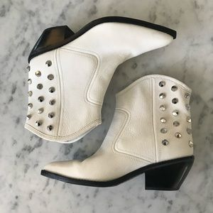 Marc Fisher Bailey studded white boots